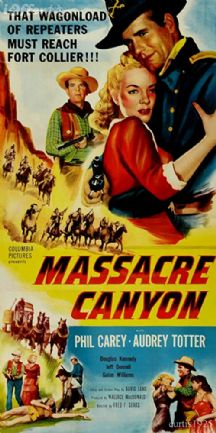 Massacre Canyon 1954 DVD - Philip Carey / Audrey Totter